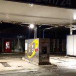 Station de lavage : projecteurs LED extérieurs